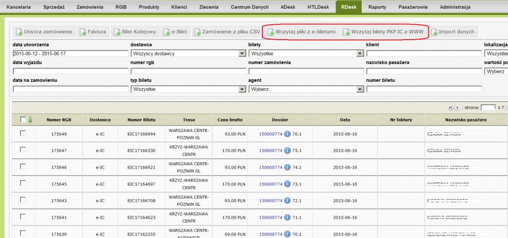 RDesk - import biletów PKP IC 01